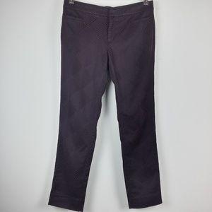 Banana Republic Plum Geomeric Texture Ankle Pants